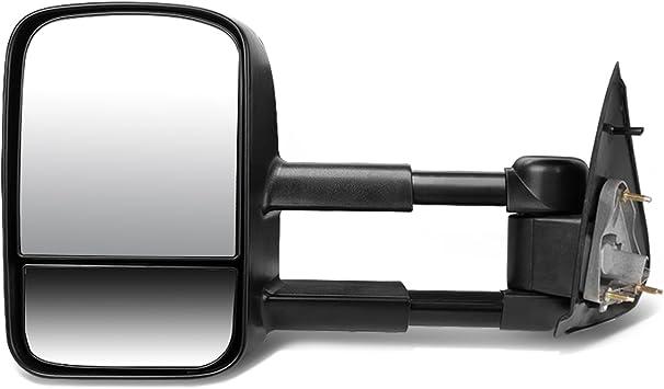 DNA Motoring TWM-002-T111-BK-R Powered Towing Mirror Right//Passenger