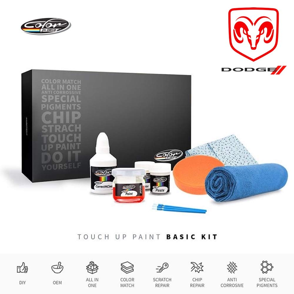 Color N Drive | Dodge PW7 - Bright White Touch Up Paint | Compatible with All Dodge Models | Paint Scratch, Chips Repair | OEM Quality | Exact Match | Basic by Color N Drive