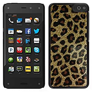 Impact Case Cover with Art Pattern Designs FOR Amazon Fire Phone Gold Bling Glitter Leopard Pattern Fur Betty shop