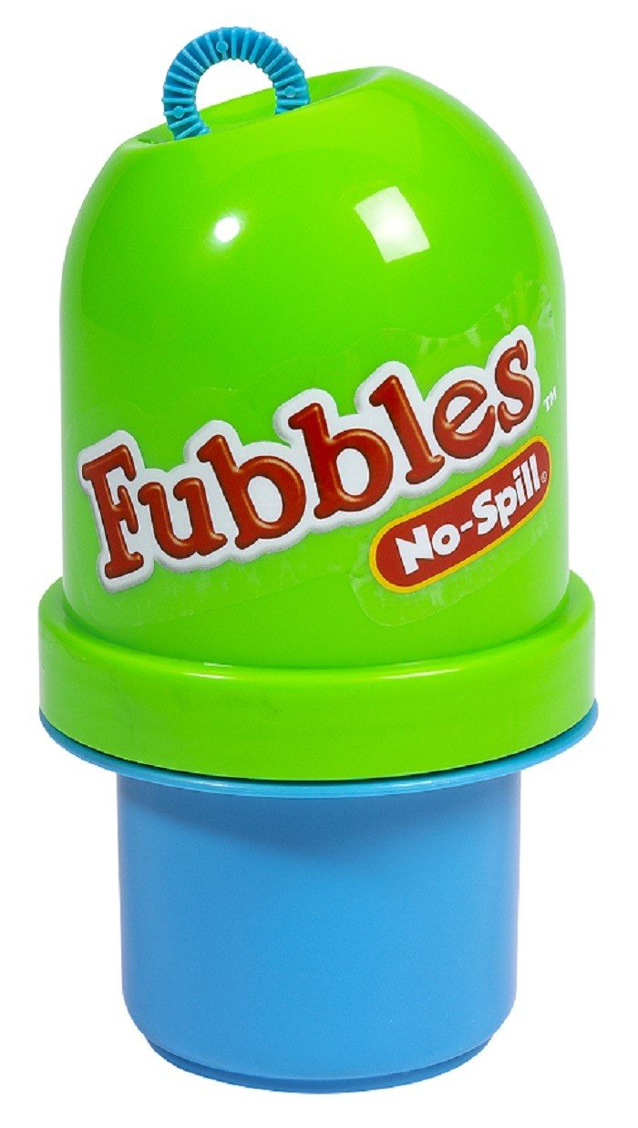 Little Kids Fubbles No Spill Bubble Tumbler 4.0 Oz Blue Green
