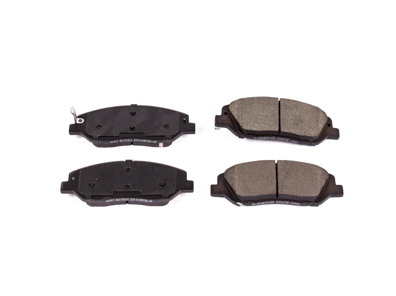 Power Stop Z23-1917 Front Z23 Evolution Sport Carbon Fiber-Ceramic Brake Pads