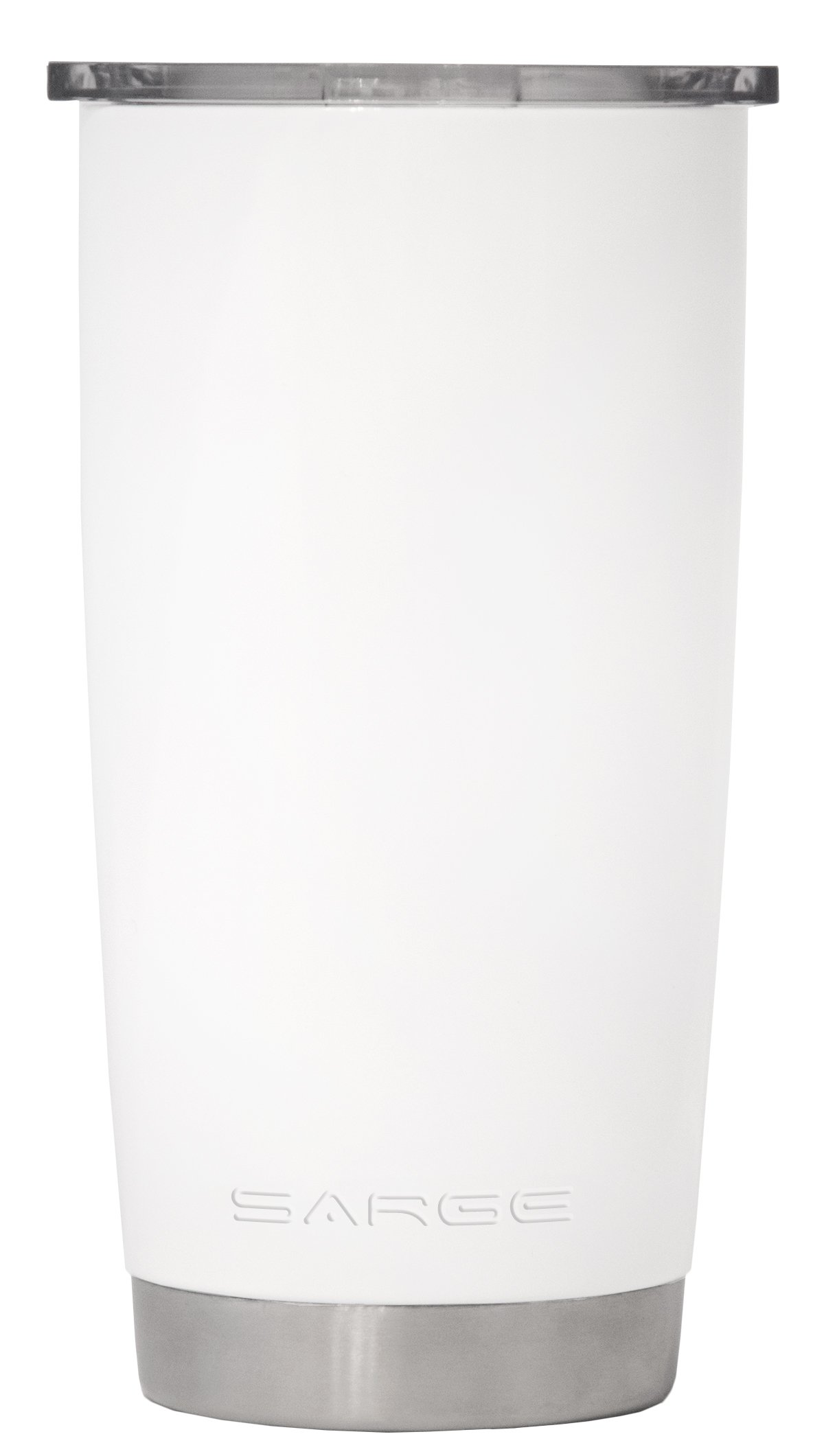 Sarge Knives DC-20WH 20 oz Stainless steel Tumbler with Shatterproof Lid and White Desert Cup