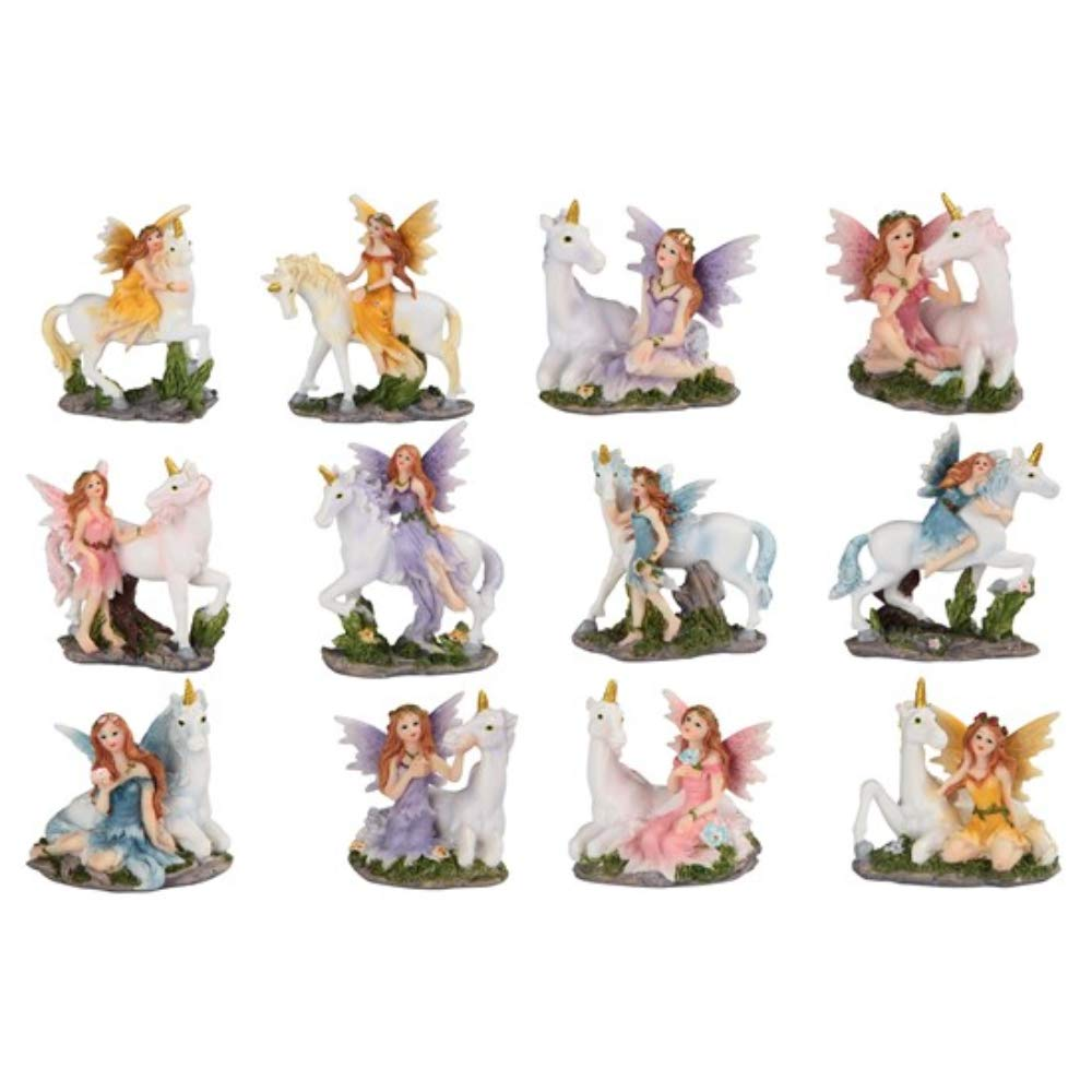 Paykoc Imports 3'' Miniature Faries and Unicorns for Fairy Garden Set of 12
