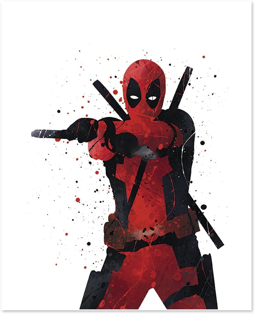 PGbureau Deadpool Wall Art Poster Print - Superhero Home Decor - Inspired Art 8x10