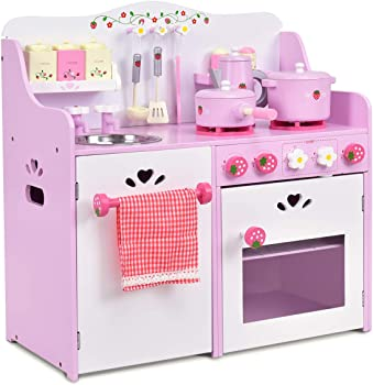 Costzon Cute Premium Play Kitchen Toy