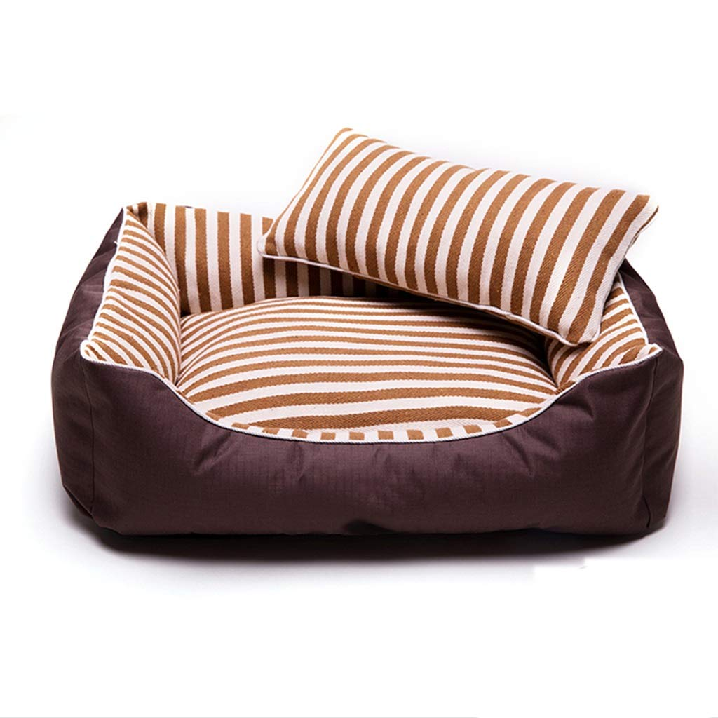 Small Deep Sleep Cotton Dog Kennel Removable And Washable Small Medium And Large Dog Dog Pad Warm Autumn And Winter Pet Nest WHLONG (Size   S)