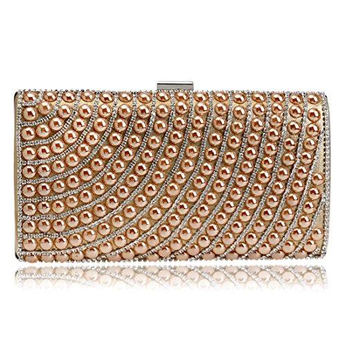 Small Oro Dress Handbag Shoulder Square Diamond Clutch da colore Waveni Borsa 1 Lady Bag sera 0xqgTXw6
