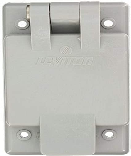 125 V 15 A Pack of 2 Leviton 5278-CWP Straight Blade Flanged Male Power Inlet Receptacle Body And Strap Nylon Face