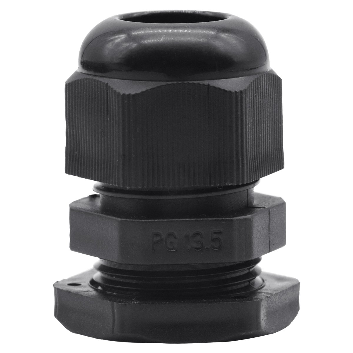 Lantee PG 13.5 Cable Gland - 20 Pieces Black Plastic Nylon Waterproof Wire Glands Connector Fitting Fit for 6mm to 12mm Cable Range