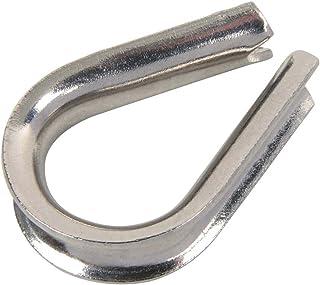 M4304acciaio inossidabile corda ditale per 4mm Wireropes resistenza alla corrosione, in stile europeo, confezione da 20 VEDA .