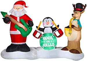 Home Accents Holiday Inflatable Airblown Rock The Halls Band 6 ft. Animated