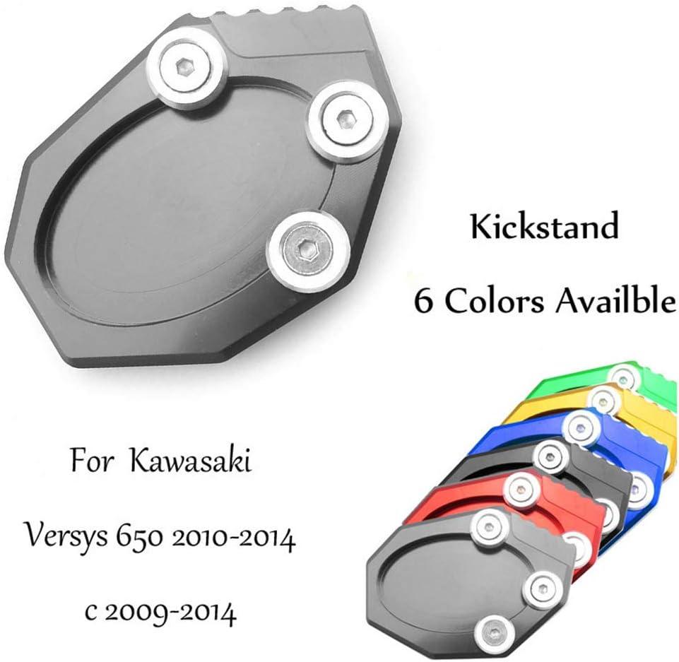 CNC Motor Side Stand Pad Plate Kickstand For Kawasaki Versys 650 2010-2014 c 2009-2014
