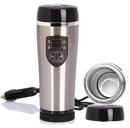 12V coche eléctrico calentador de agua del coche calentador de agua calentador aislamiento taza de 100 grados Cafetera de acero , 3: Amazon.es: Hogar