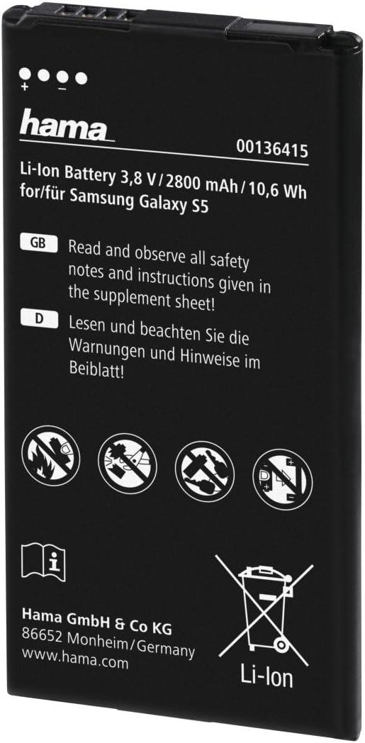 Hama Li Ion Akku Für Samsung Galaxy S5 2800 Mah Elektronik