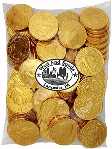 Bulk Milk Chocolate Gold Coins Candy (1 lb) for Kids