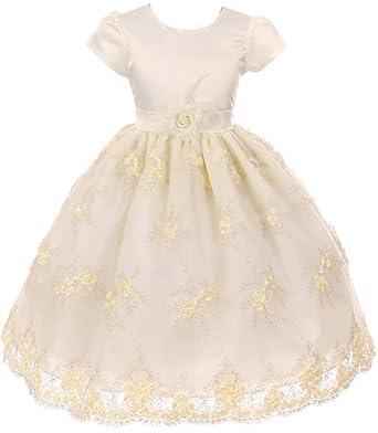 4b8eae6d1a9 BNY Corner Big Girl Puff Sleeve Embroidery Flower Girl Dress Ivory 8 CB 352
