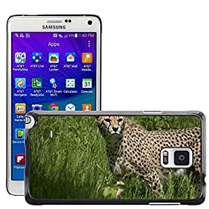 Hot Style Cell Phone PC Hard Case Cover // M00110817 Cheetah Predator Cat Hunting Animals // Samsung Galaxy Note 4 IV