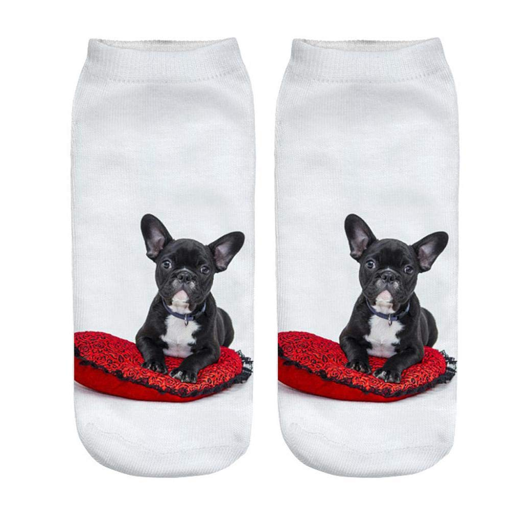 VJGOAL Unisex moda casual Divertido perro 3D Impreso Calcetines casuales Lindos calcetines de tobillo de corte bajo(Un tamaño, Multicolor1): Amazon.es: Ropa ...