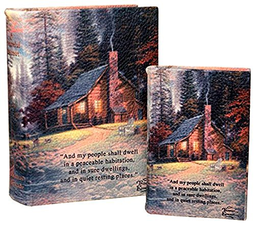 Thomas Kinkade Jewelry (Manual Woodworkers & Weavers Thomas Kinkade Memory Box, Peaceful Retreat, Set of 2)