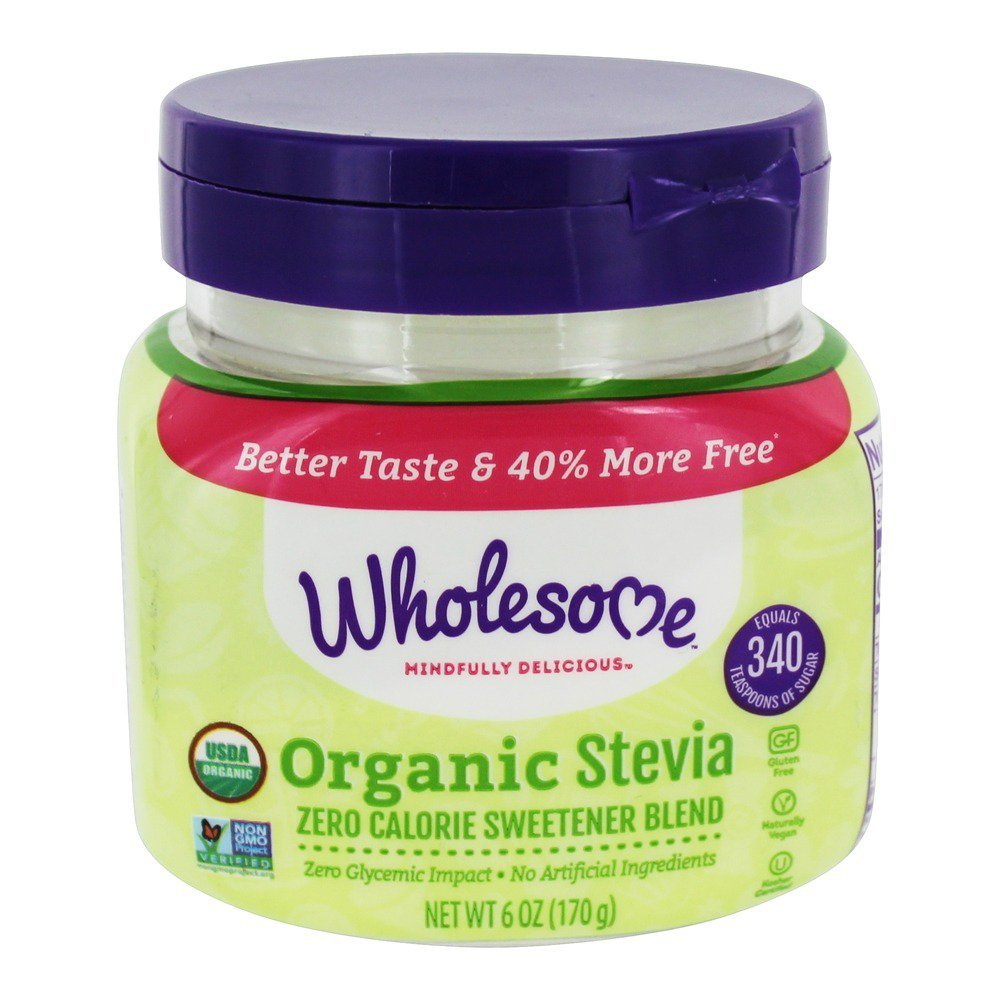 Wholesome Mindfully Delicious Organic Stevia Spoonable Sweetener, 6 Ounce Jar - 6 per case.