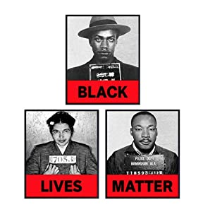 Malcolm X, Martin Luther King, MLK, Rosa Parks Black Lives Matter Poster Prints - African American Wall Art Set - Inspirational Room Decor or Gift for Civil Rights Fans - 8x10 UNFRAMED