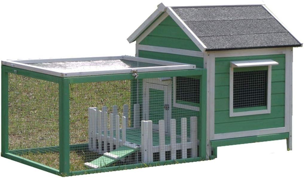 Al aire libre Casa de perro de madera maciza Jaula para perros a ...