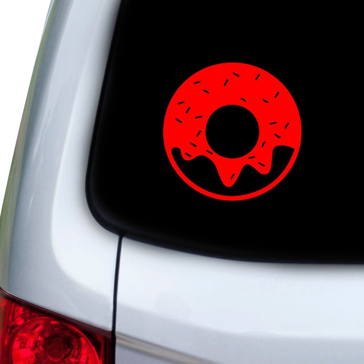 Doors Hoods StickAny Car and Auto Decal Series Doughnut Sticker for Windows Red