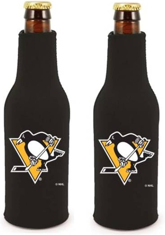 Pittsburgh Penguins 2-Pack 12oz Bottle Zipper Beverage Insulator Neoprene Holder Cooler Hockey