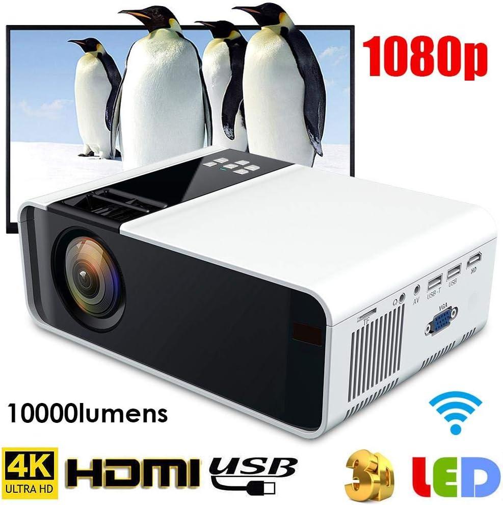 Proyector LED Inteligente, 4K WiFi Bluetooth Ultra-HD 720P ...