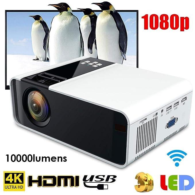 Mini proyector, HD 1080P LED Smart Projector 4K WiFi Bluetooth ...