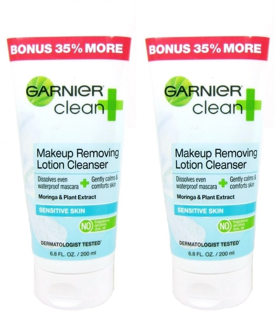 Garnier Clean+ Makeup Removing Lotion Cleanser, Sensitive Skin, 6.8 Ounce (Pack of 2)