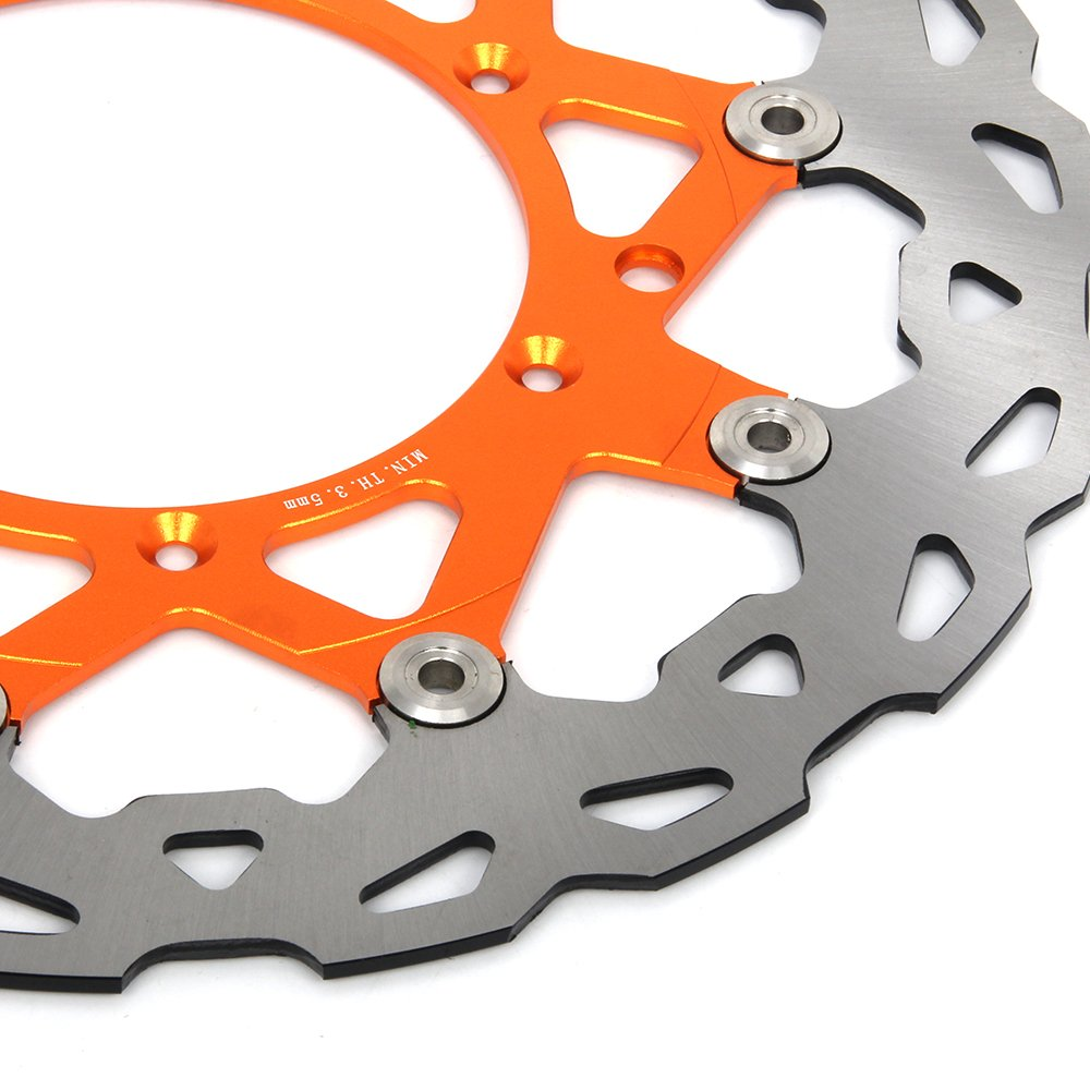 Adaptor Bracket Fit For KTM 125-530 SX SXF XC XCW XCF XCFW EXC 09-15 320mm Orange Front Floating Brake Disc