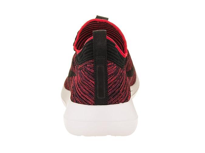 meet cfadd bb8bd Nike Mens Roshe Two Flyknit V2 ChileRedBlackBourdeauxWhite Running Shoe  10. 5 Men US Amazon.in Shoes  Handbags