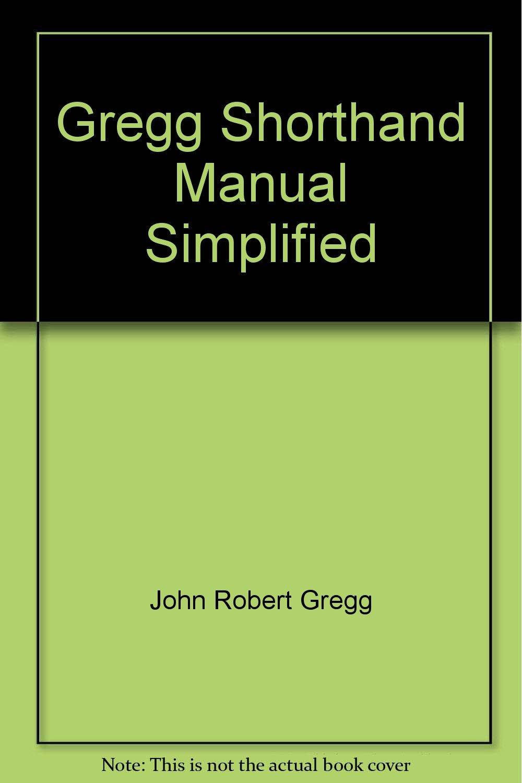 Gregg shorthand manual simplified books amazon buycottarizona