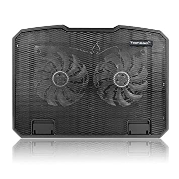 Nrpfell Ventilador Dual levantado del Ordenador portatil del disipador Termico del Ordenador portatil de la Fan del Multi-Angulo: Amazon.es: Electrónica
