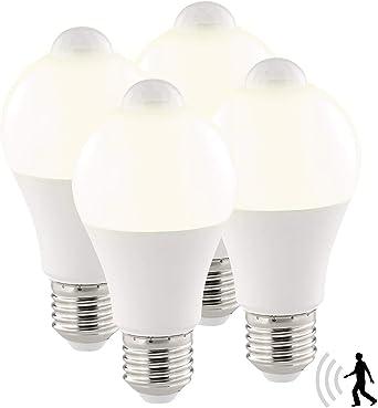 Luminea LED Leuchten mit Sensor: LED Lampe mit
