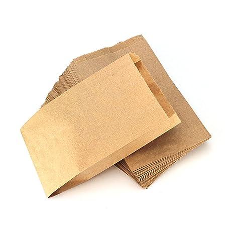 RUBY - 100 Kraft bolsa de papel marrón, bolsas de regalo/bolsas de fiesta/calendario de adviento/navidad/bodas/fiestas de ...