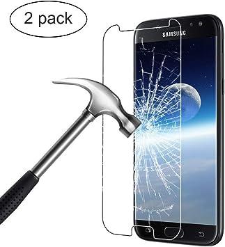 Bigmeda Protector de Pantalla para Samsung Galaxy J7 2017, Galaxy J7 Vidrio Templado Flim Protection Anti-Scratch Cristal Templado Película Protectora para Galaxy J7 2017 Screen Protector: Amazon.es: Electrónica