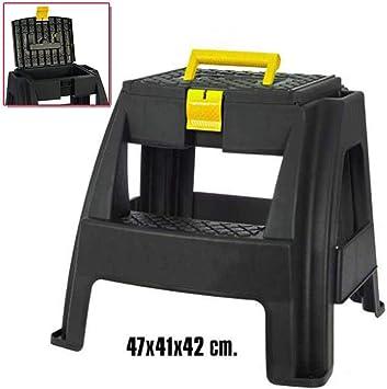Escalera 2 peldaños con caja de herramientas: Amazon.es: Bricolaje y herramientas