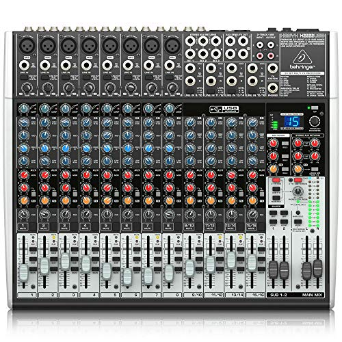 Behringer Xenyx X2222USB Premium 22-Input 2/2-Bus Mixer with USB/Audio Interface ()