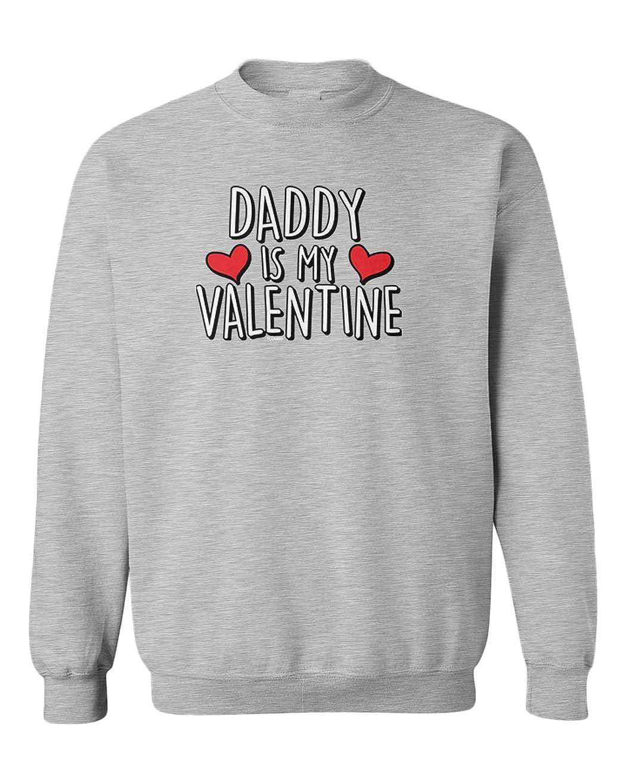 Cute Cupid Youth Fleece Crewneck Sweater Tcombo Daddy is My Valentine