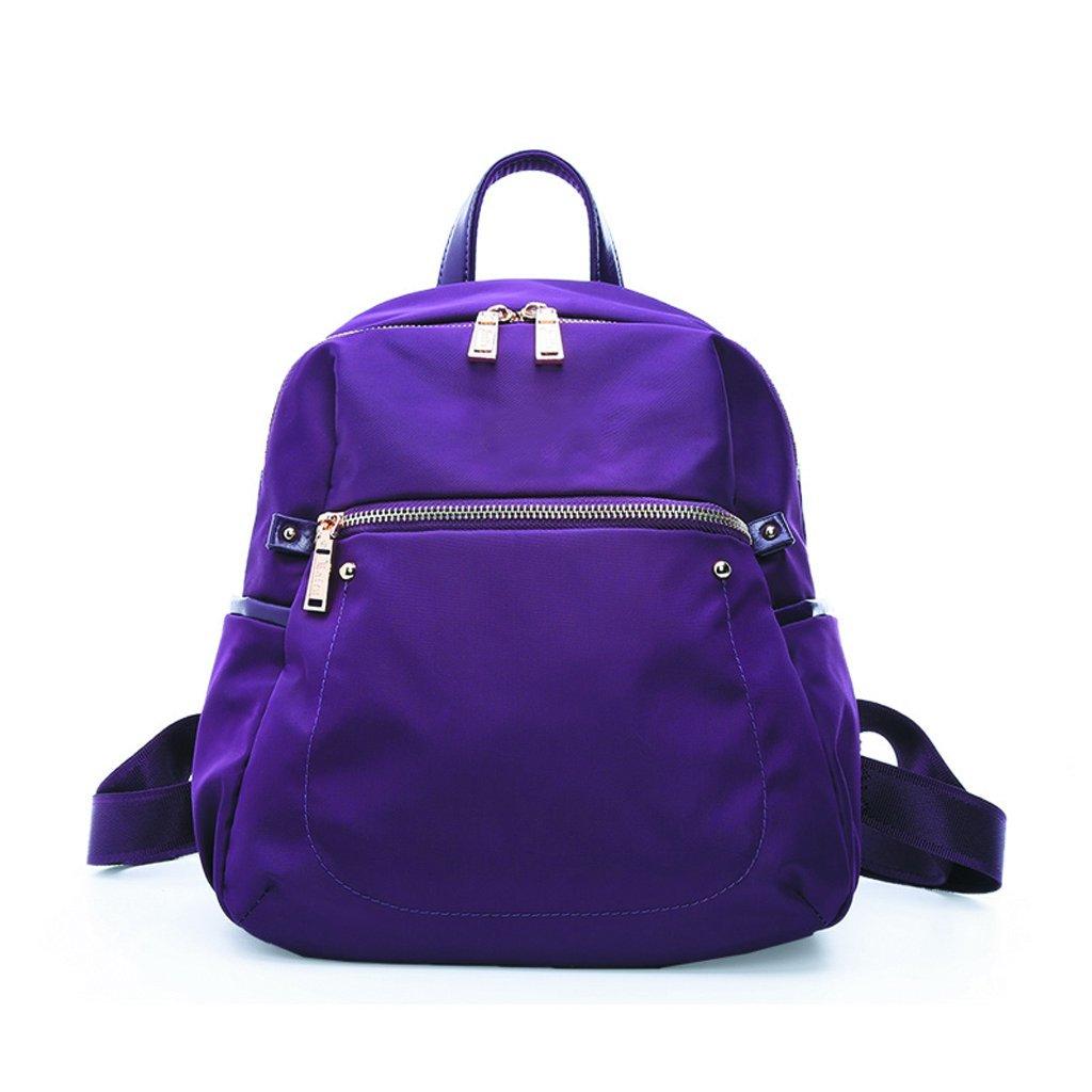 女性のバックパックミニ防水絶妙なバックパック軽量シンプルなバックパック(ブラック) (色 : Purple) B07FMY5MDY Purple
