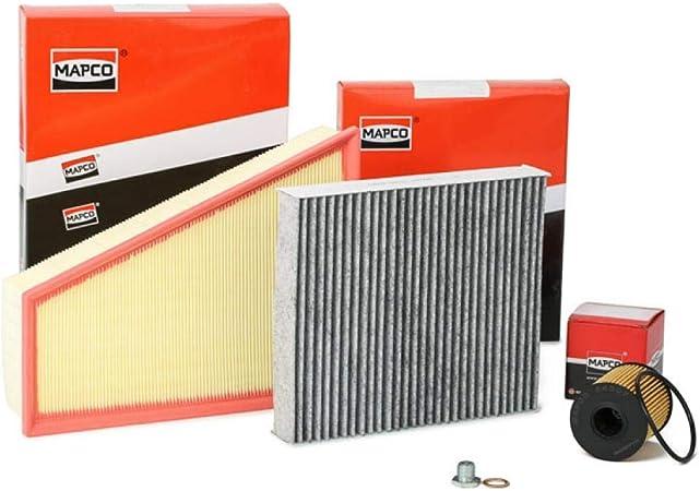 Mapco 68844 Filtersatz Luftfilter Ölfilter Aktivkohlefilter Auto