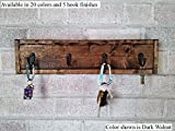 Renewed Decor Herringbone Style Key Rack available in 5 key hooks and 20 Stains - Key Holder - Key Sorter - Key Hooks - Key Holder for Wall - Wall Hooks