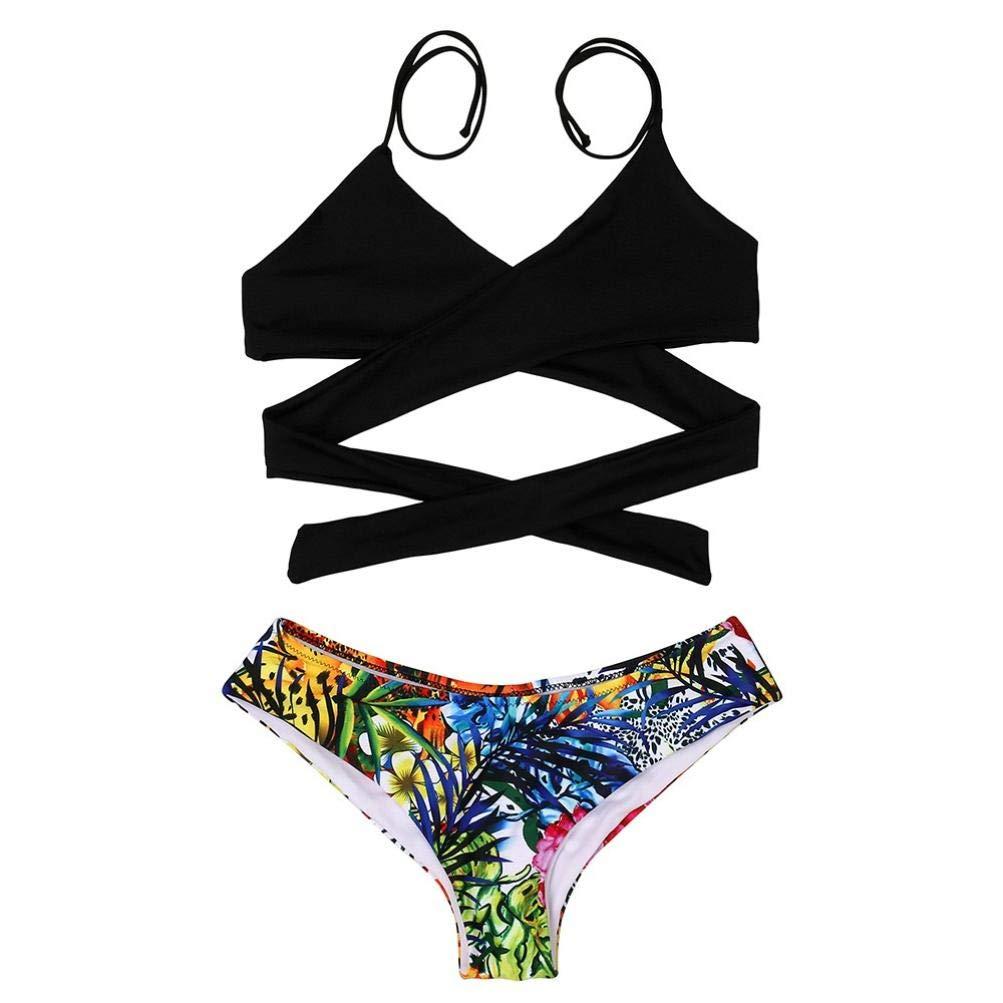 Amphia Sexy Beach Bikini, Bikini Atractivo de la Cintura Baja del Vendaje de la Cintura de Las Mujeres Traje de baño Traje de baño Mujeres: Amazon.es: Ropa ...