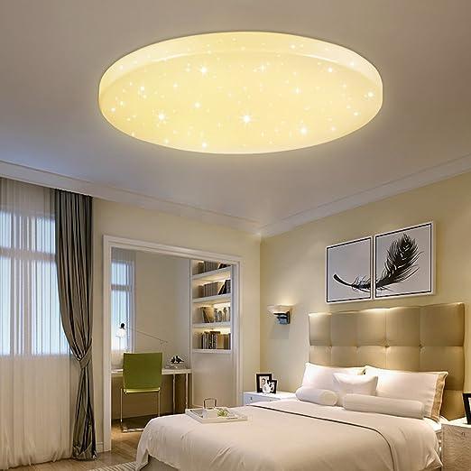 VINGO® Lámpara de techo Lámpara con efecto de destello Iluminación infantil de techo Iluminación de techo para baño [Clase de eficiencia energética ...