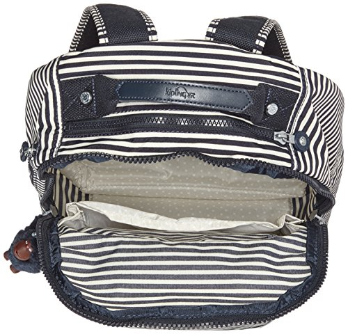 Kipling - CLAS SEOUL - Großer Rucksack - Teal C - (Blau) Marine Stripy