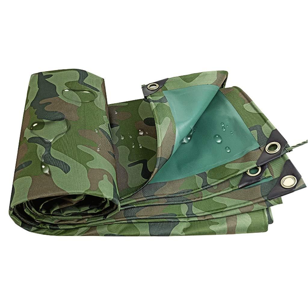 Camouflage vert 3X5m Duanguoyan BÂche- Couverture de Prougeection extérieure de bÂche de Tissu imperméable épaissie par Tissu de Camouflage d'Oxford (Couleur   Camouflage vert, Taille   3X3m)
