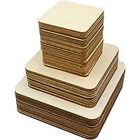 Cuadrados de madera en blanco sin terminar
