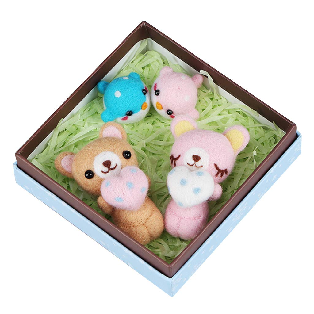 Felt Applique Kits for Adults with Gift Box DIY Animals Needle Felting Craft 2